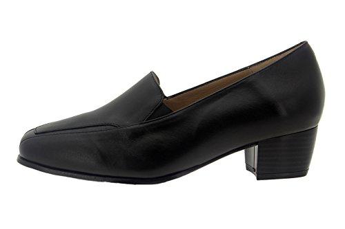 cuir mocassin Piesanto en Chaussure confort comfortables amples Noir 7112 femme qO4fA7a