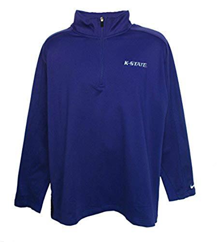NCAA Kansas State Wildcats Men's Size Large 1/4 Zip Performance Pullover Shirt - Purple ()