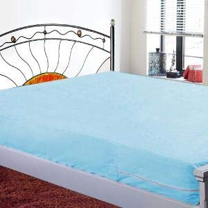 LatestHomeStore Waterproof Single Non Woven Bed Mattress Protector (3x6ft, Blue)