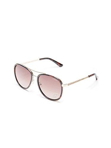 a51efae9f82 GUESS Factory Women s Rhinestone G Aviator Sunglasses