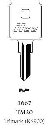 Ilco Trimark TM20 Key Blank (10 Pack) (Trimark Lock Key)