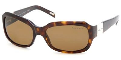 Ralph RA5049 Sunglasses-510/83 Dark Tortoise (Polarized Brown - Sunglasses Ralph
