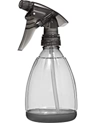 Empty Plastic Spray Bottle 12 Ounce, Smoke Grey, Adjustable Head Sprayer from Fine to Stream (Pack of 1)