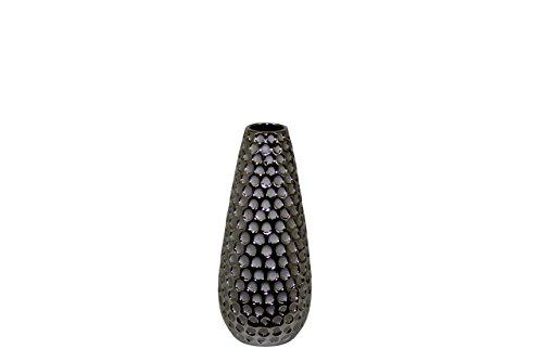 Benzara Exquisite Ceramic Vase with Hammered Design, Small from Benzara