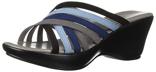Athena Alexander Women's WILLAMENA Wedge Sandal, Blue Combo, 8 M US