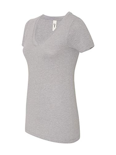 Next Level Lightweight The Ideal V-Neck T-Shirt, X-Large, Heather ()