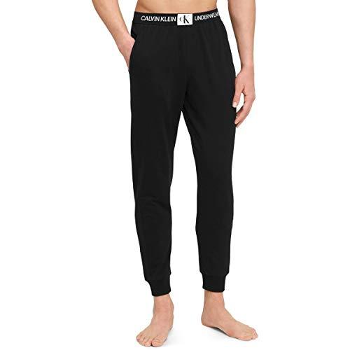 Calvin Klein Sleepwear Mens Monogram Logo Jogger Pants Black XL