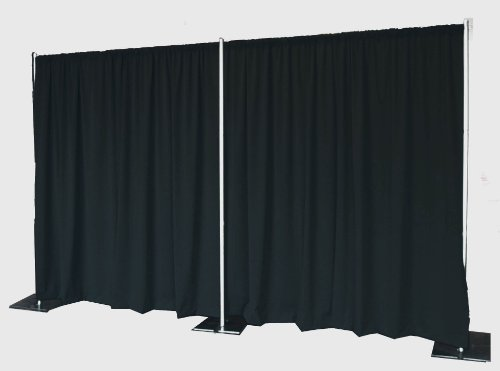 Pipe and Drape Backdrop 8ft x 20ft (Black)