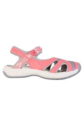 Mountain Warehouse Cynthia Geschlossene Sandalen Für Damen - Phylon-Zwischensohle, Leichte Flipflops, Schuhe mit Klettverschluss - Für Spaziergänge, Strand und Pool Koralle
