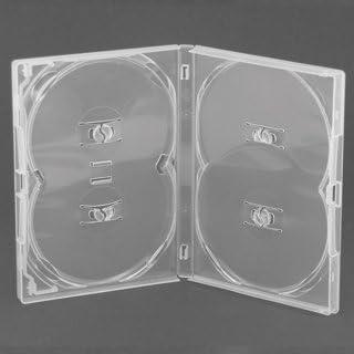Amaray - Caja para DVD, transparente (capacidad para 4 discos ...