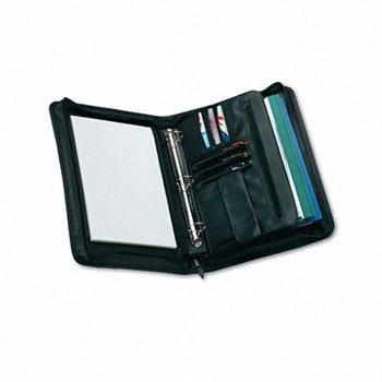 Universal® Zip-Around Padfolio PADFOLIO,VYL,ZIPRND,BK 12BWWC (Pack of2)