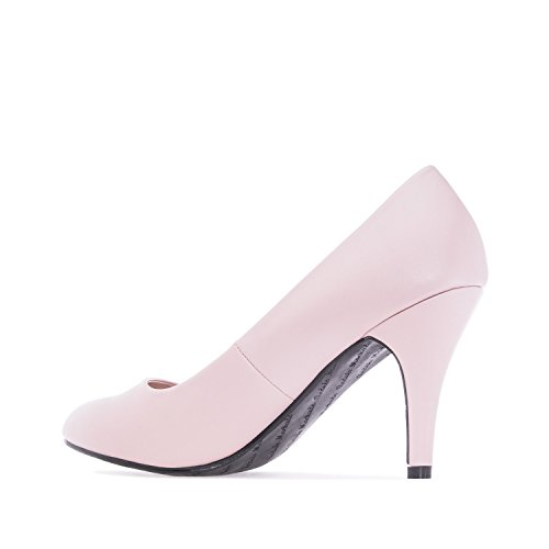 High AM422 Machado Pink groß Pink 36 Andres und mittel Heel Größe Small Pumps erhältlich Retro Soft gat5dTwxn