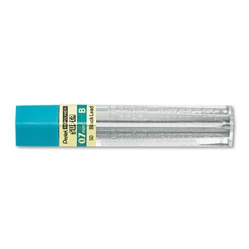 Pentel 50B Super Hi-Polymer Lead Refills, 0.7mm, B, Black (Pack of 12) Mechanical Pencil 7mm Lead Refillable