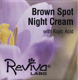 REVIVA Labs Brown Spot Night Cream with Kojic Acid -- 1 oz