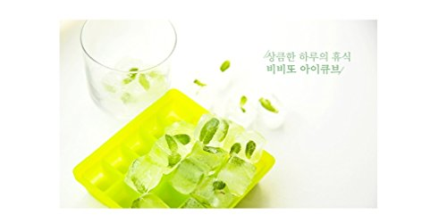 Silicone Ice Mold I-Cube Multi Cube Baby Food Starage Container (Orange+Red+Viloet+Green) by Bibito (Image #3)