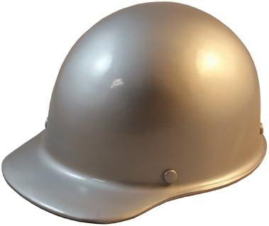 MSA Skullgard Cap Style Hard Hat With Ratchet Suspension - Custom Silver  Color