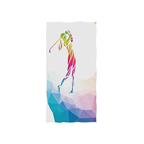(TropicalLife Sport Golf Player Ultra Soft Beach Bath Towel Lightweight Multipurpose Towels for Bathroom Travel Sports Gym Spa Hotel Decorative, 15x30 Inch)