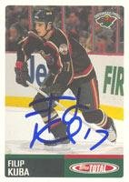 Filip Kuba Minnesota Wild 2003 Topps Total Autographed Card. This item comes with a certificate of authenticity from Autograph-Sports. Autographed