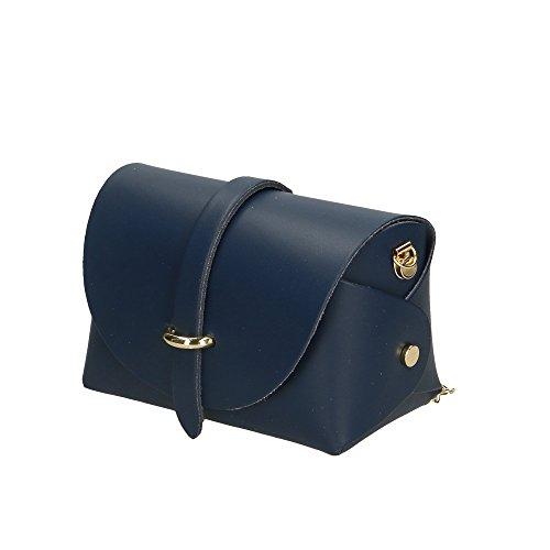à italie bandoulière sac fabriqué pour Cm en en femme Bleu cuir véritable Aren 18x11x9 petite PwtE1qEg