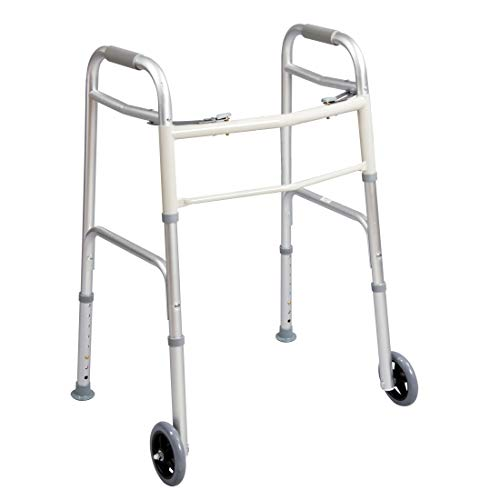 (Carex Dual Paddle Folding Walker with 5