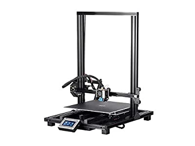 Monoprice MP10 3D Printer - Black with (300 x 300 mm) Removable Heated Flexible Build Plate, Assisted Leveling, and All Metal Accessible Extruder