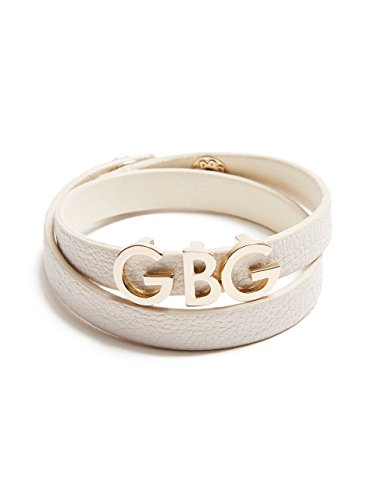 G by GUESS Women's Off-White Faux-Leather Wrap Bracelet
