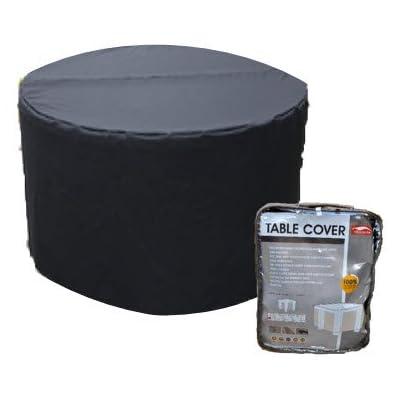 Housse pour table de jardin ronde 128cm polyester coloris noir ...