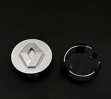 Seayahy 4 Pi/èces Embl/ème Badge de Voiture Capuchons de moyeu de Jante de,Capuchon de moyeu de Centre pour Renault 54mm,Car Wheel Dust-Proof Covers Car Styling Accessori