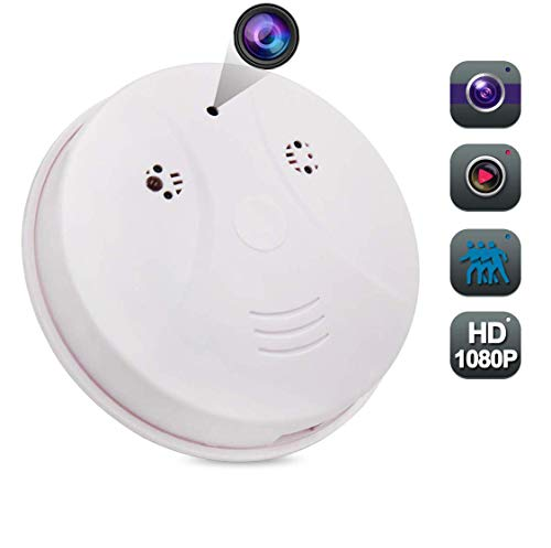 Spy Camera Wireless Hidden Smoke Detector Camera 1080P Mini Camera Monitor Video Recorder Nanny Cam Wireless Security Surveillance Camera for Home/Office No WiFi Need
