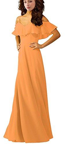 E050lf Spaghetti Spalle Damigella Chiffon Arancione Lunghe Di Talinadress D'onore Abiti Prom Con Abiti Cinghie E5Yz7xgq