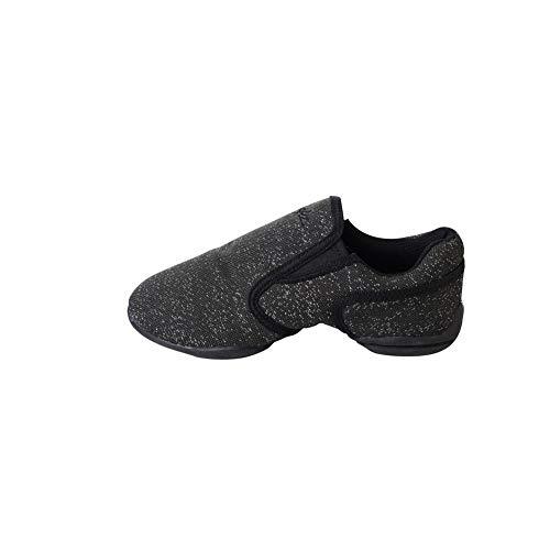 SANSHA Black Mulan Shimmery Dance Sneakers Girls 8 M Toddler