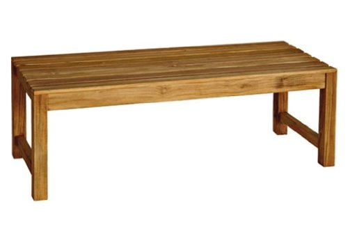 Three Birds Casual Charleston 4-Foot Backless Bench, Teak