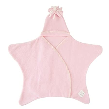 Tuppence and Crumble Star Baby Wrap Baby Pink Size Small