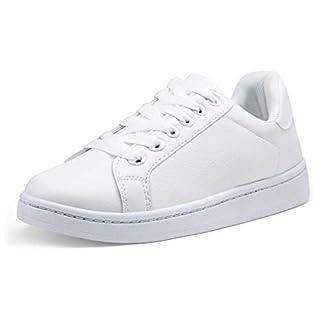VEPOSE Women's Fashion Sneakers Platform Walking Shoes White Sneaker for Women White(8,Casual Sneakers-603-White)
