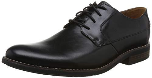 Uomo Plain Nero Clarks Stringate Derby Leather Scarpe Becken Black 5qqzX