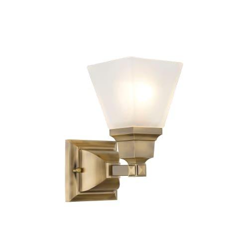 Livex Lighting 1031-01 Mission 1-Light Bath Light, Antique Brass