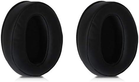 kwmobile 2x イヤーパッド対応: Sennheiser HD 450BT ヘッドフォン - PUレザー イヤーパッドカバー 交換用