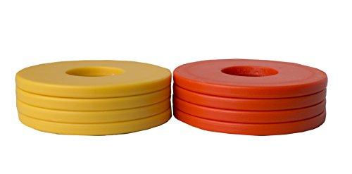 Washer Yard Toss Replacement Pitching Set (Orange/Gold, Set of 8)