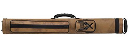 Outlaw 2-Butt and 2-Shaft Vinyl Pool Cue Case with Guns - Vinyl Cue Case