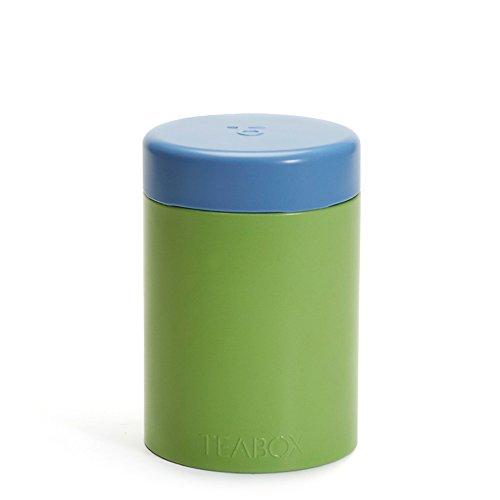 Teabox Round Tea Tin | Holds 100g of Tea | Twist Lock Top | Tea Container/Storage | Green