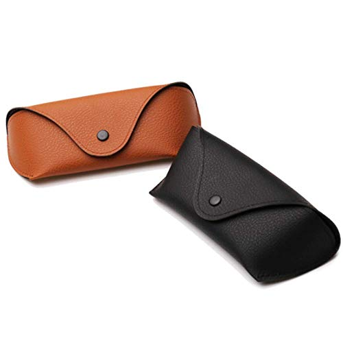 2 Pcs Glasses Case Portable Oxford Cloth Sunglasses Case Horizontal Eyeglass Case with Snap Button Closure for Women and ()