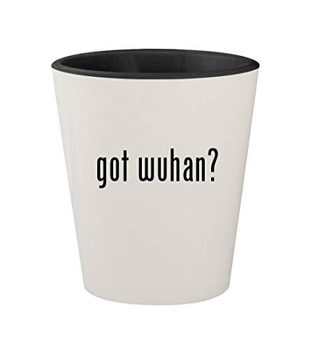 - got wuhan? - Ceramic White Outer & Black Inner 1.5oz Shot Glass