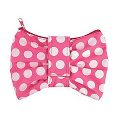 Divoga(R) Bow Pencil Pouch, 8 7/16in. x 6 1/10in. x 9/16in., Pink