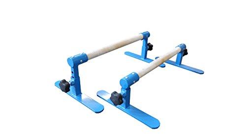 Tumbl Trak Parallette Bars Blue, Adjustable
