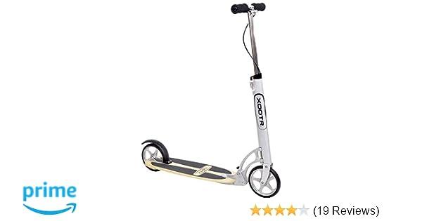 XOOTR Cruz Teen/Adult Kick Scooter - 800+lb Capacity - Life Long Backing - QuickClick Latch Folding Mechanism - Front & Rear Brake