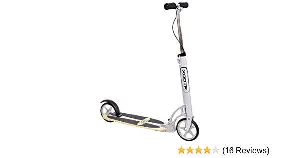 XOOTR Cruz Teen/Adult Kick Scooter - 800+lb Capacity - Life Long Backing - QuickClick Latch Folding Mechanism - Front & Rear Brake