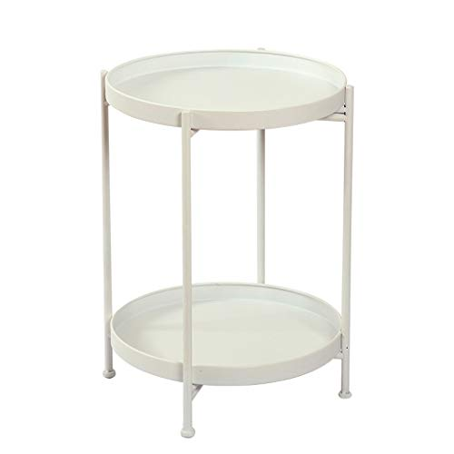 Coffee Table/Leisure Table Wrought Iron Round Coffee Table/Coffee Table Simple Mini Table Living Room Sofa Side Table Bedside Table Durable (Color : ()