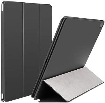 LOMQIT Funda para iPad Pro 12.9 Pulgadas 2018, Estuche Inteligente Minimalista Ultra Delgado Ultra magnético Fuerte con Reposo/activación automáticos, Cubierta de Soporte tríptico,Negro: Amazon.es: Electrónica