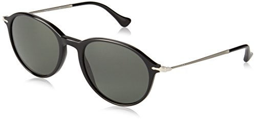 Persol 3125S 95/58 Black 3125S Round Sunglasses Polarised Lens Category 3 - Rock Round Eyeglasses
