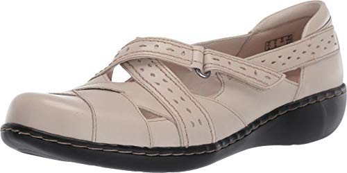 CLARKS Women's Ashland Spin Q Ivory Leather 8 A US